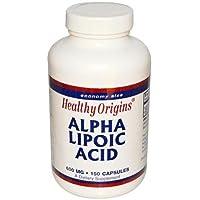 Healthy Origins   Alpha Lipoic Acid (Alpha-Liponsäure)   600mg   150 Kapseln   glutenfrei