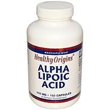 Healthy Origins, ácido alfa lipoico, 600 mg, 150 Cápsulas