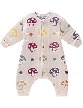DaiShuGuaiGuai Baby Ganzjahres Schlafsack mit Füßen (Mehrfarbig) (Pilze)