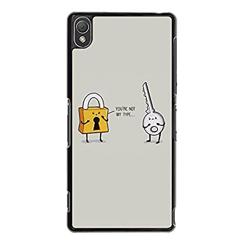 Sony Xperia Z3 Boyfriend And Girlfriend Lovers Shell Cover,Lock And Key Best Friends Couple Phone Case Cover for Sony Xperia Z3 Best Friends Funny