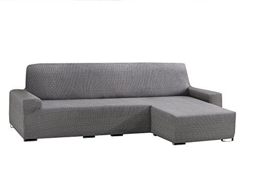 Eysa Aquiles bielástico Chaise Longue Corto Brazo Derecho, Polyester-Cotton, gris, 43x 37x...