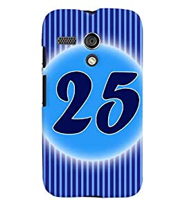 Fuson 3D Printed Numerology Designer back case cover for Motorola Moto G - D4245