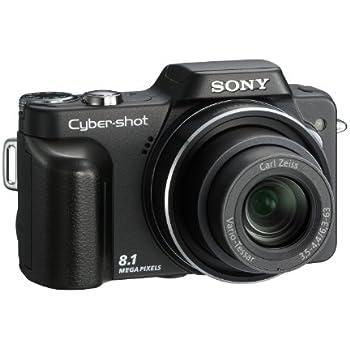 Sony Cybershot DSC-H10B Digitalkamera (8 Megapixel, 10-fach opt. Zoom, 7,6 cm (3 Zoll) Display) schwarz