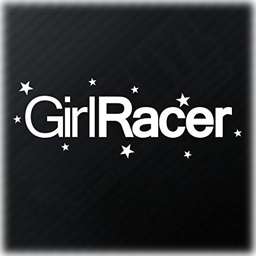 Girl Racer Funny Car Fenster JDM DRIFT DUB/Bumper Sterne Euro Vinyl Aufkleber Aufkleber (V2)
