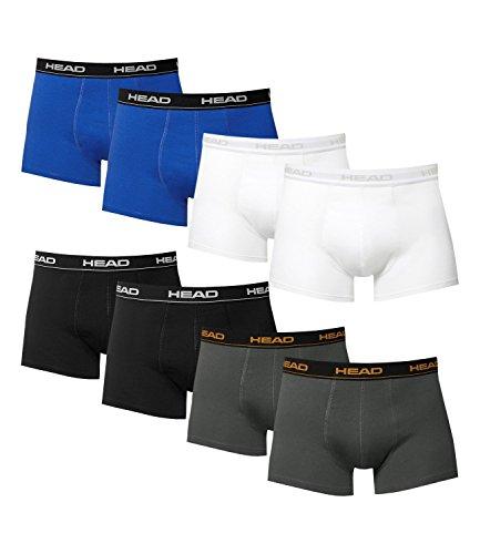 HEAD Herren Boxershorts 841001001 8er Pack 2x black 2x blue 2x white 2x dark shadow