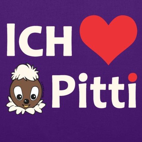 Spreadshirt Sandmännchen Pittiplatsch Ich Liebe Pitti Stoffbeutel Lila