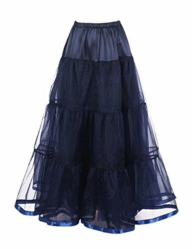 Honeystore Damen's Hochzeit Unterkleid Lang Ballet Petticoat Tutu Rock Marine (Mit Kostüm Tutu Superwoman)
