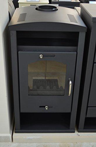 Estufa de leña con caldera integral de combustible sólido para calefacción central...
