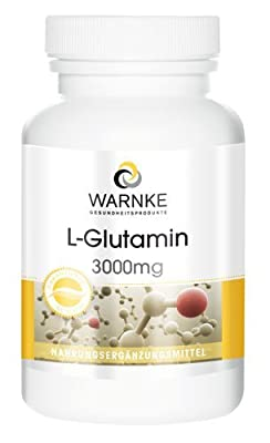 Warnke Health Products L-glutamine 3000mg, free form, vegan, 120 capsules by Warnke Gesundheitsprodukte GmbH & Co. KG