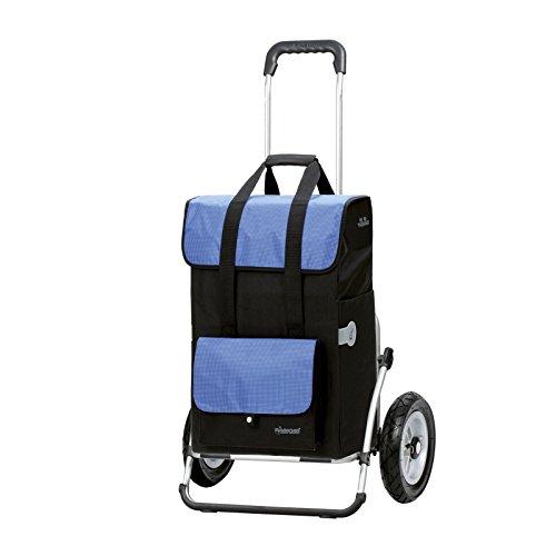 Sondermodell Andersen XXL Einkaufstrolley Royal & Einkaufstasche Vektor schwarz/blau mit Kühlfach | Einkaufswagen luftbereift | Shopper Aluminium klappbar