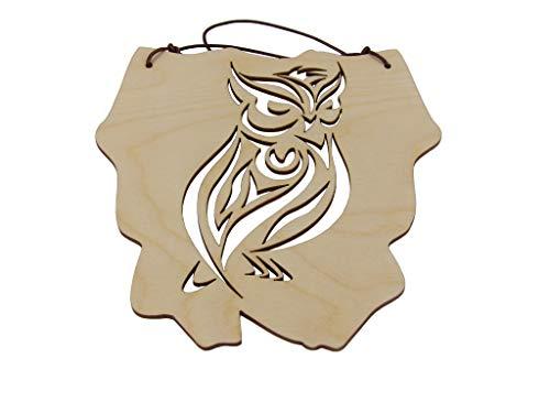 Kreativknoten Aufhänger - Schild/eine ausgefallene Dekoration mit tollen Schnittmuster Tiermotiv Eule