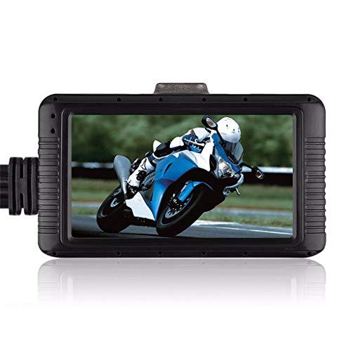 Bestyyo - Videoregistratore da Moto HD 1080P Davanti e Dopo Il Doppio Scatto, 3,0' Split con Penna a Tratto Dash Cam Anteriore Posteriore con sensore G a XXL