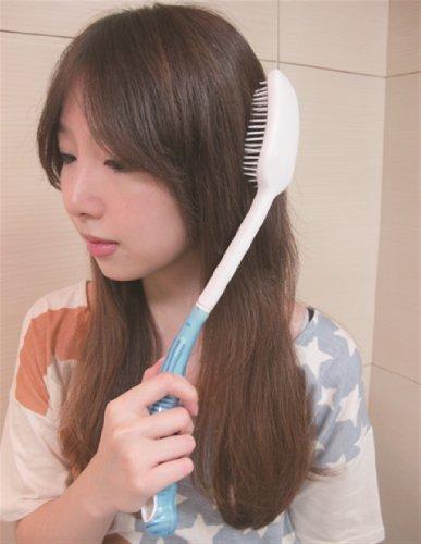 Poignée longue brosse à cheveux