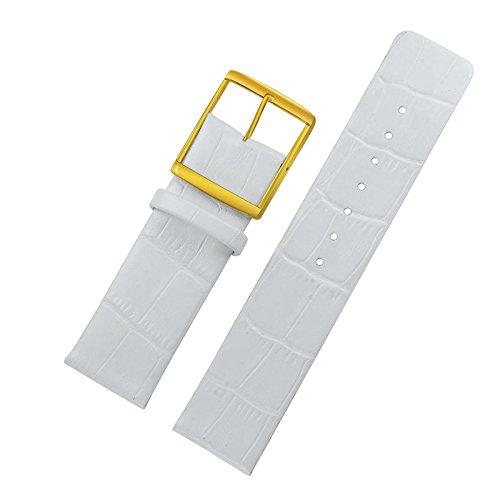 Reloj alta gama blanca 18mm señoras correas cuero