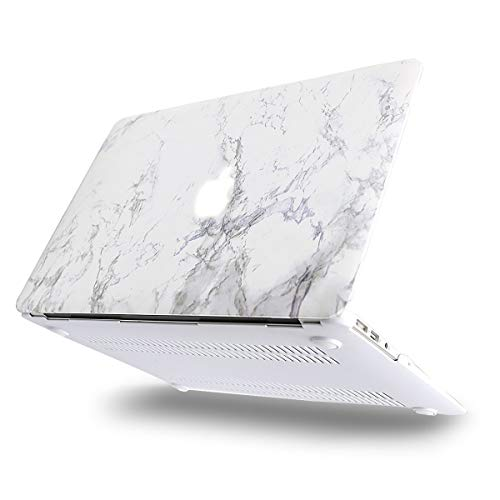MOSISO Coque Compatible avec MacBook Air 13 Pouces A1369/A1466 2010-2017, Ultra Mince Coque Rigide Motifs Compatible avec MacBook Air 13 Pouces, Marbre Blanc