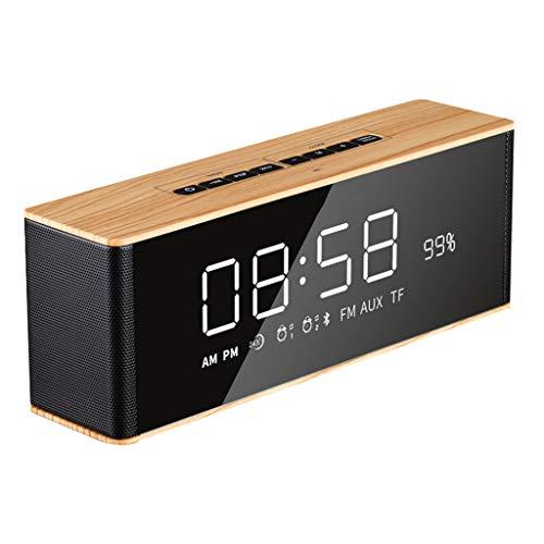 ZHJ-Alarm clock Bedside Wecker LED Wecker Elektronischer Digitaler Wecker mit Drahtloser Bluetooth-Lautsprecheranruffunktion FM-Radio Kind Ideales Geschenk Aufladen Mit...