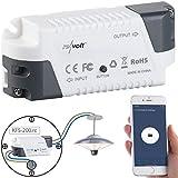revolt WLAN Lichtschalter: Funk-Empfänger KFS-200.rc, komp. zu Amazon Alexa & Google Assistant (Alexa-Lichtschalter)
