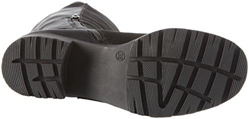 Bianco Chunky Long Boot JJA16 - Stivali alti con imbottitura leggera Donna Nero (10/Black)