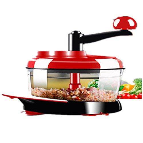 SSWJT Multi-Funktions-Gemüse Artefakt Mini manuelle Kochmaschine Haushalts kleine Fleischwolf Mixer