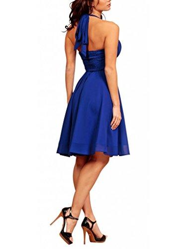 MY EVENING DRESS - Robe -  - Dos nu - Sans manche Femme Bleu - Bleu marine