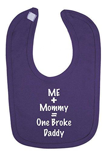 me-plus-mommy-equals-one-broke-daddy-cierre-de-velcro-babero-morado