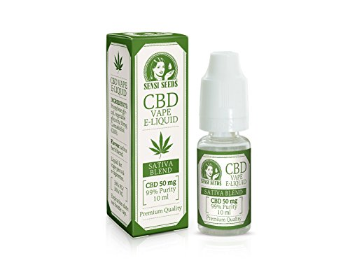 *Sensi Seeds CBD Liquid Sativa Blend 50 mg 10ml, inkl. CBD-Guide*
