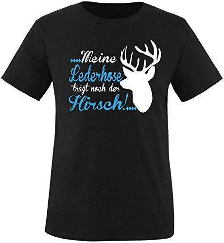 Luckja Meine Lederhose trägt noch der Hirsch Herren Rundhals (Shirt Trachten T)