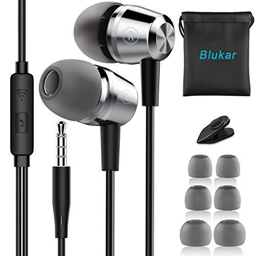 Auriculares In Ear, Blukar Auriculares Cable Micrófono