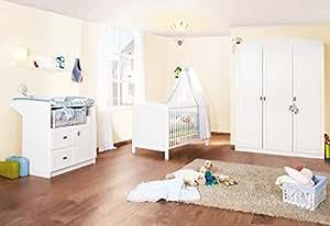 pinolino 100025g kinderzimmer laura gro 3 teilig bestehend aus wickelkommode 3 t rigem. Black Bedroom Furniture Sets. Home Design Ideas