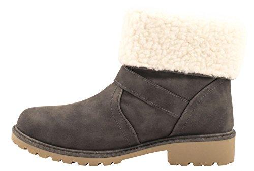 Elara - Stivali senza lacci Donna Grau