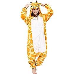 dressfan Unisex Adulto Animal Pijamas Jirafa Cosplay Disfraz Animal Jirafa Pijama Jirafa Disfraz Niño Adulto