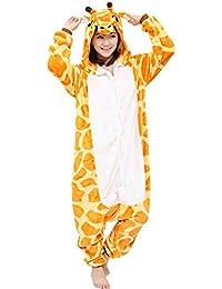 84548a619 dressfan Unisex Adult Animal Pajamas Giraffe Cosplay Costume