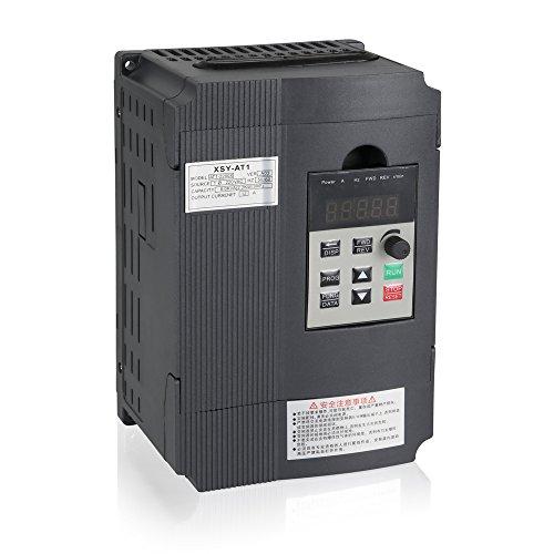 Mysweety VFD Inverter convertisseur de fréquence 2,2 KW 3HP 220 V 12 A pour axe Moteur de contrôle de Vitesse (Vfd-2.2kw) ¡