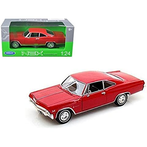 1965 Chevy Impala SS396, Red - Welly 22417 -1/24 scale Diecast Model Toy Car by Welly