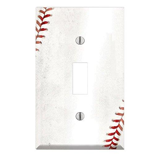 Wandschalter Toggle/Auslass Abdeckung Decor Wallplates–Baseball Einzel-Kippschalter Midway Mehrfarbig