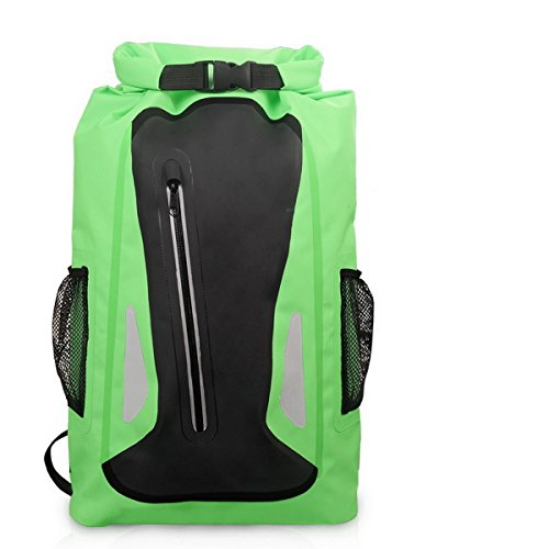 Acmebon Outdoor-Zaino Unisex impermeabile per arrampicata,kayak,canottaggio,canoa,pesca,rafting,borsa nuoto,da viaggio e avventura Giallo 604 verde