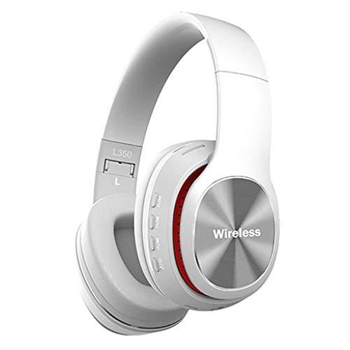 Jamicy® Wireless Bluetooth-Stereo-Headset, faltbaren Bluetooth Over Ear Kopfhörer mit Mikrofon Klappbares Design für iPhone, Android (Weiß) Jabra Bluetooth Mic