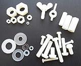 15 x dadi di fissaggio in nylon/plastica, dadi distanziatori, dadi ad alette M4 M5 M6 M8 10 mm 20 mm 30 mm (tipo e dimensione a scelta), 15x Beilagscheibe 6x3x1.2mm