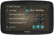 TomTom GO Professional 620 LKW-Navigationsgerät (Updates über Wi-Fi, 15,2 cm (6 Zoll), Smartphone-Benachrichtigungen, Lebens