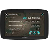 TomTom GO Professional 620 LKW-Navigationsgerät (Updates über Wi-Fi, 15,2 cm (6 Zoll), Smartphone-Benachrichtigungen, Lebenslang Karten-Updates Europa, Lebenslang Traffic und Radarkameras)