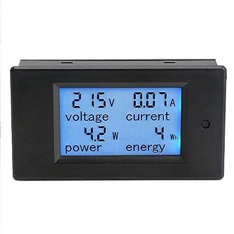 DROK® Digital Multimeter AC 80-260V 100A Voltmeter Ammeter Power Energy Monitor Panel Meter Electricity Meter LCD Blue Backlight Display with Transformer CT