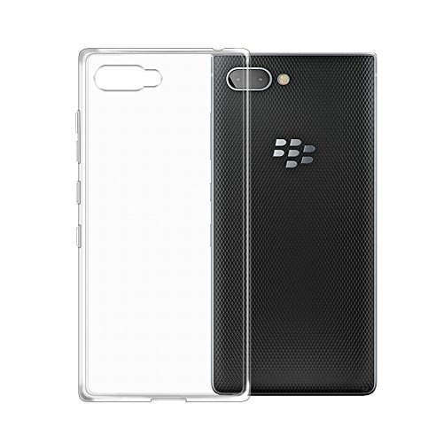 TopACE BlackBerry KEY2 Hülle, TPU Hülle BlackBerry KEY2 Schutzhülle Durchsichtig Klar Silikon transparent für BlackBerry KEY2 (Transparent)