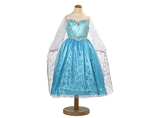 Den Goda Fen 065370-vestido De Elsa De La película Frozen con mango largo y vela 6-7ans talla M