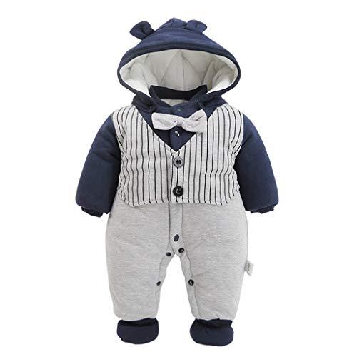 Bambino Tutina Gentiluomo Pagliaccetto Neonato Invernale Tuta da neve Addensare Pigiama Battesimo Nozze Festa Outfits