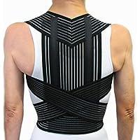 Vetrina del Benessere Corrector DE Postura con Varillas -Negro, XL (98-108 cm.)- Faja Cinturón Postural Soporte para Espalda y Hombros - Unisexo para Hombres y Mujeres