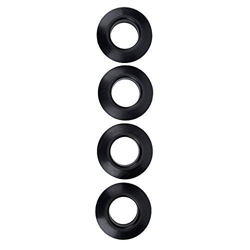 4 Stücke Gummi Drip Ringe, Durable Praktische Universal Gummi Drip Ringe für Kajak Kanu Rafting Paddles Welle Schwarz MEHRWEG VERPAKUNG