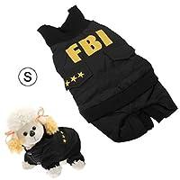 S Hundoverall FBI Manteau pour chien Protection contre la pluie Combinaison Veste Chihuahua Yorkshire
