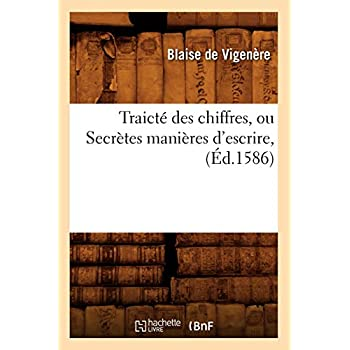 Traicté des chiffres, ou Secrètes manières d'escrire , (Éd.1586)