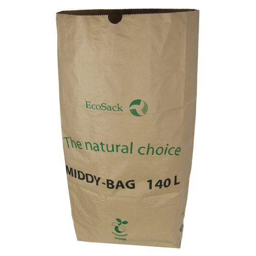All-Green 140 litri (140L) sacchi compostabili di carta per porta rifiuti carrellabili, 10 Sacchi