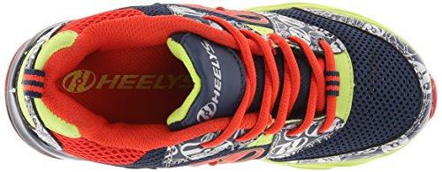 Heelys RACE Schuh 2015 navy/burnt orange/lime navy/burnt orange/lime